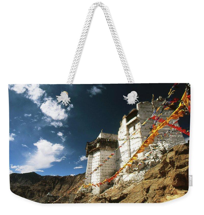 Namgyal Tsemo Gompa Weekender Tote Bag featuring the photograph Namgyal Tsemo Gompa by Patrick Klauss
