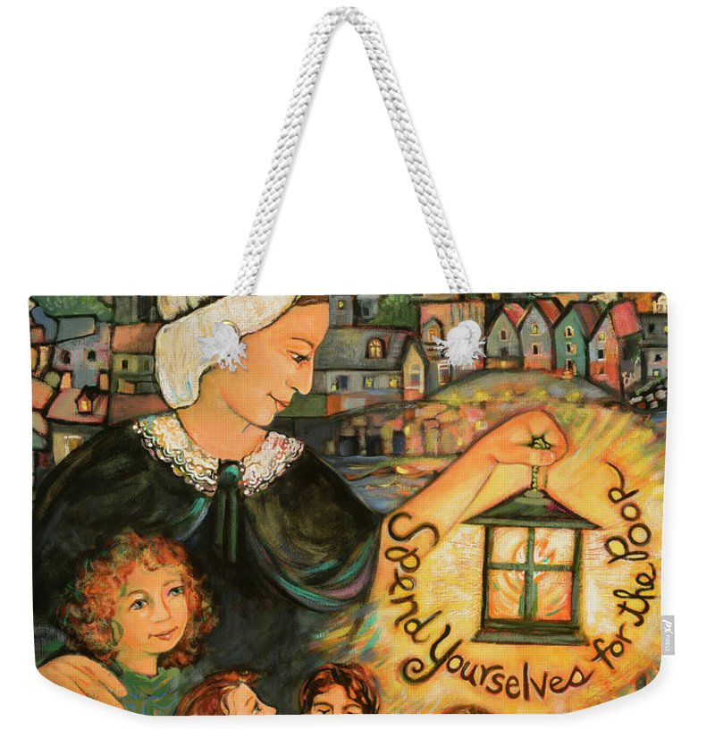 Jen Norton Weekender Tote Bag featuring the painting Nano Nagle, Foundress Of The Sisters Of The Presentation by Jen Norton