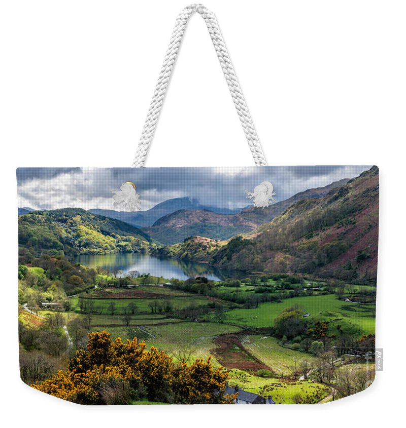 Gwynant Lake Weekender Tote Bag featuring the photograph Nant Gwynant Valley by Adrian Evans