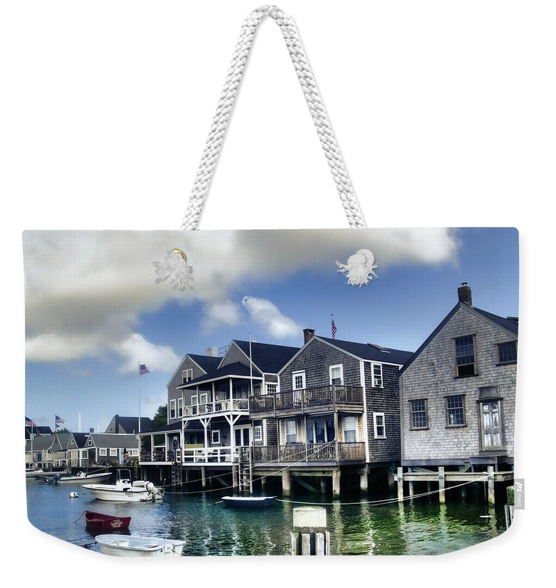 Nantucket Weekender Tote Bag featuring the photograph Nantucket Harbor In Summer by Tammy Wetzel