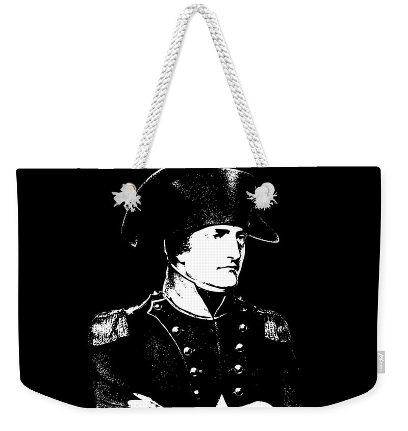 Napoleon Weekender Tote Bag featuring the digital art Napoleon Bonaparte by War Is Hell Store