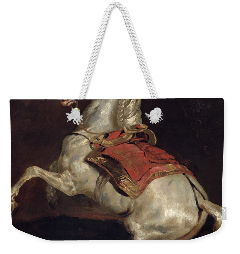 Napoleon Weekender Tote Bag featuring the painting Napoleon's Stallion Tamerlan by Theodore Gericault