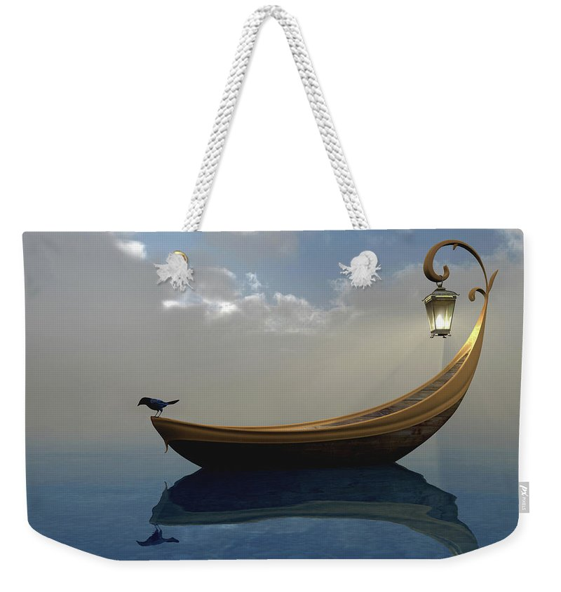 Bird Weekender Tote Bag featuring the digital art Narcissism by Cynthia Decker