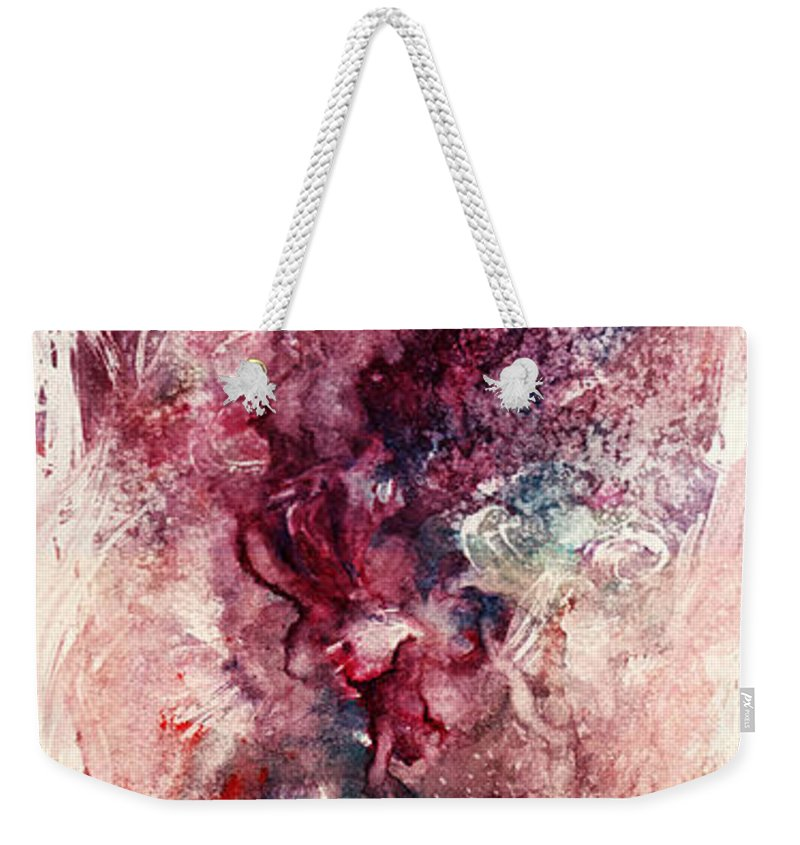 Floral Weekender Tote Bag featuring the painting Narcissus by Rachel Christine Nowicki