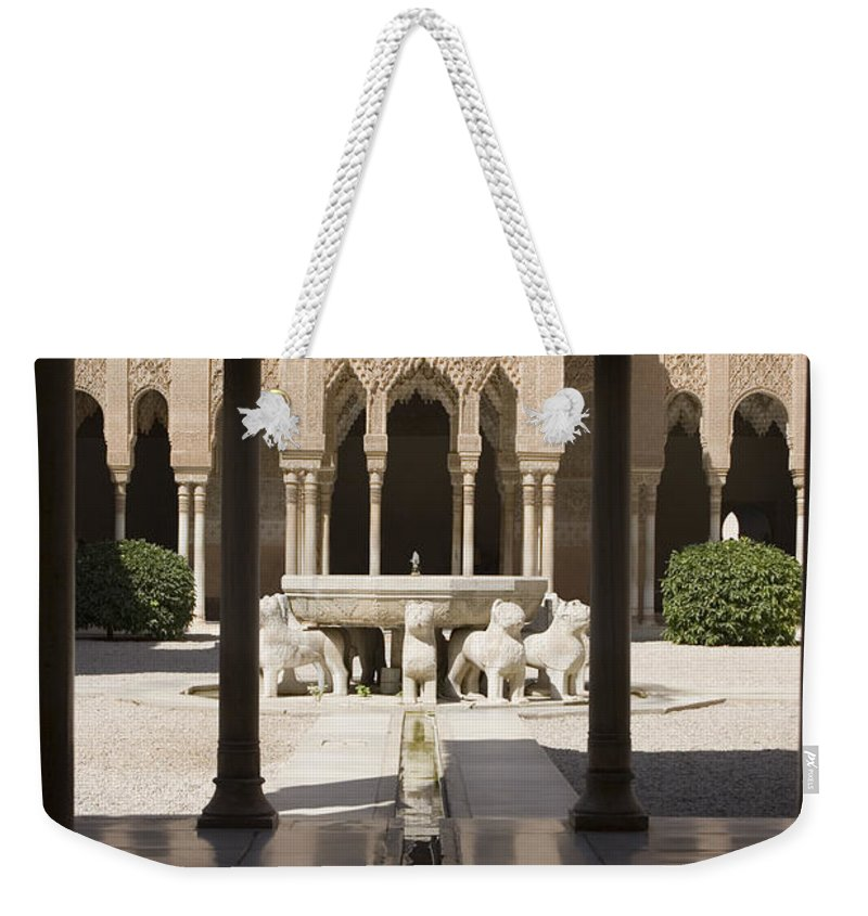 Alhambra Weekender Tote Bag featuring the photograph Nasrid Palaces Alhambra Granada Spain Europe by Mal Bray