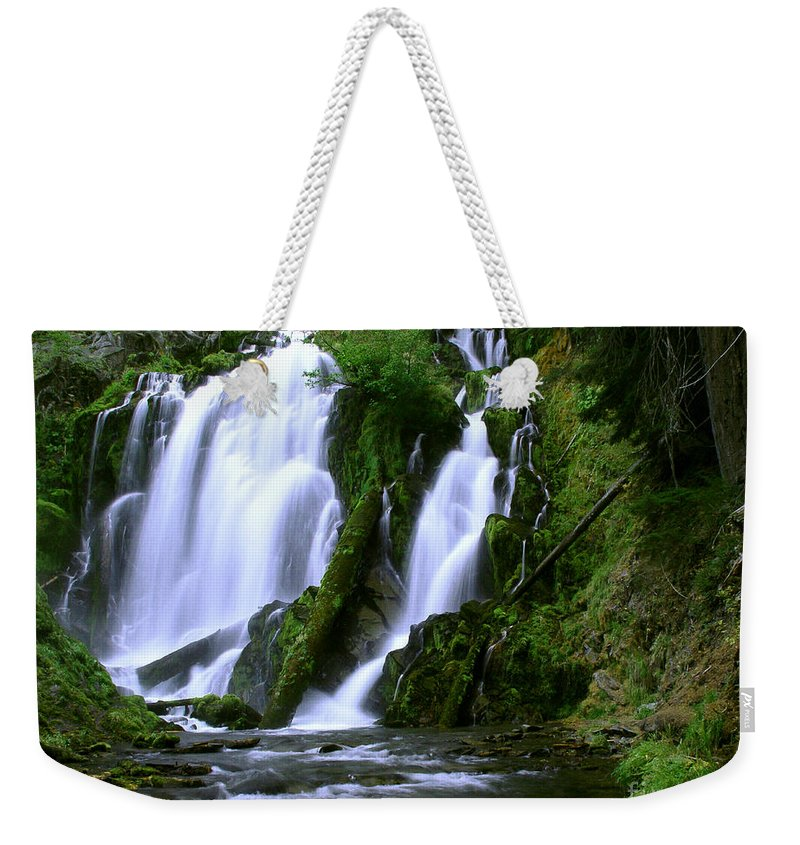 Waterfall Weekender Tote Bag featuring the photograph National Creek Falls 02 by Peter Piatt