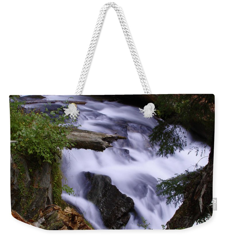 Waterfall Weekender Tote Bag featuring the photograph National Creek Falls 03 by Peter Piatt