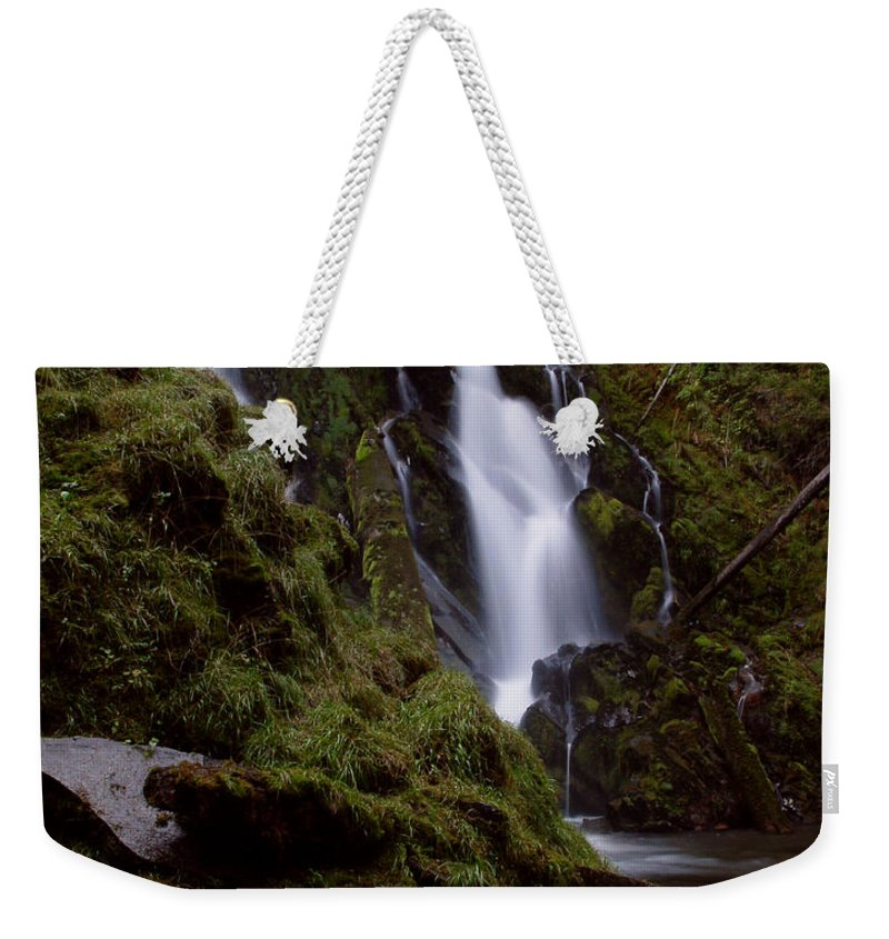 Waterfall Weekender Tote Bag featuring the photograph National Creek Falls 04 by Peter Piatt