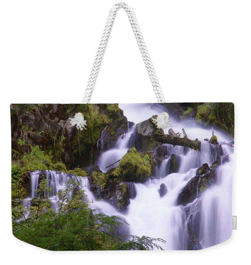 Waterfall Weekender Tote Bag featuring the photograph National Creek Falls 05 by Peter Piatt