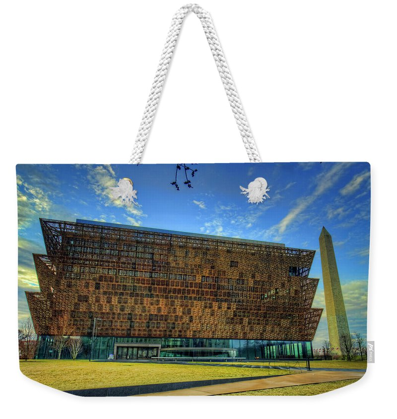 Washington Dc Weekender Tote Bag featuring the photograph National Museum Of African American History And Culture by Craig Fildes