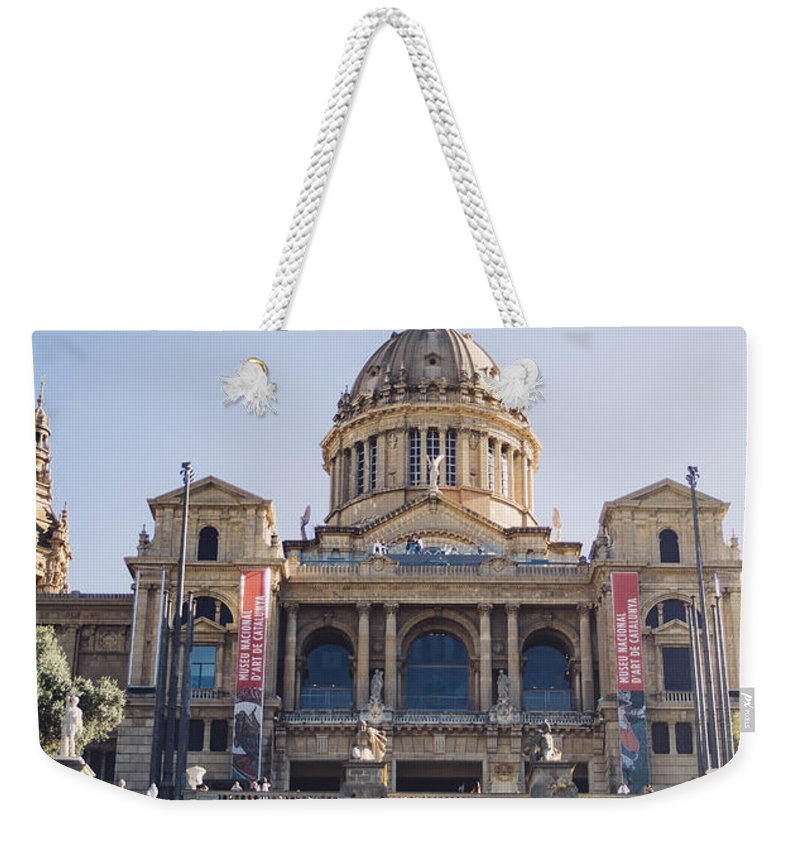 Spain Weekender Tote Bag featuring the photograph National Palace Barcelona by Pati Photography