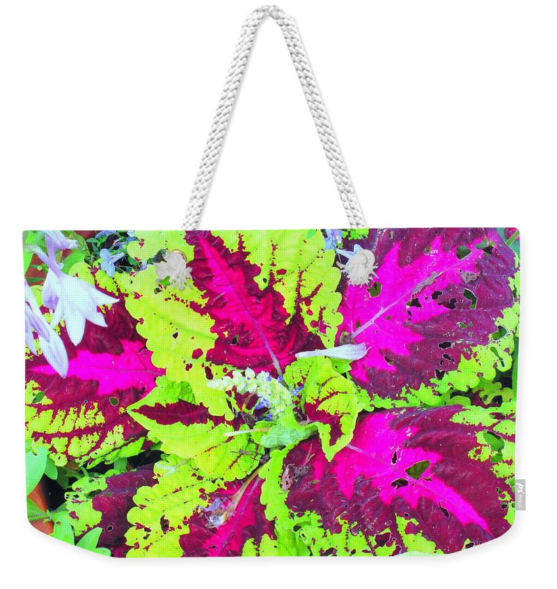 Flower Weekender Tote Bag featuring the photograph Natural Abstraction by Ian MacDonald