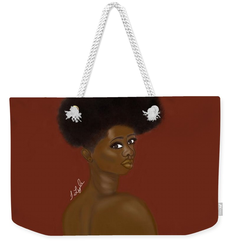 Weekender Tote Bag featuring the digital art Natural Beauty by T Lyle Designs