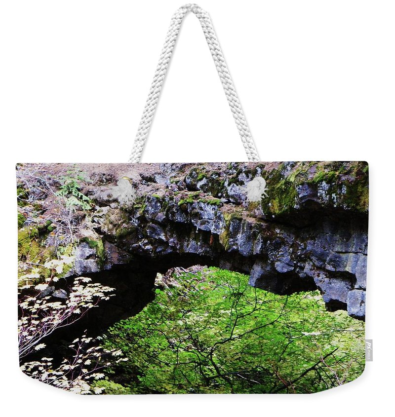 Rocks Weekender Tote Bag featuring the photograph Natural Bridge by Jeff Swan