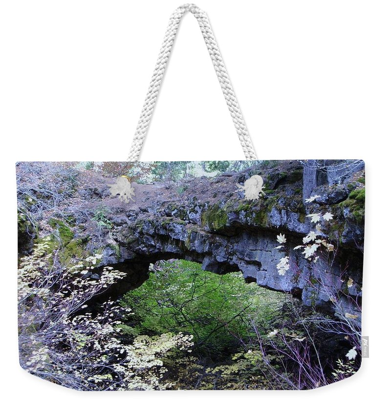 Natural Bridge Weekender Tote Bag featuring the photograph Natural Bridge Two  by Jeff Swan