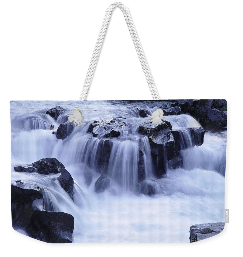 Waterfall Weekender Tote Bag featuring the photograph Natural Bridges Falls 01 by Peter Piatt