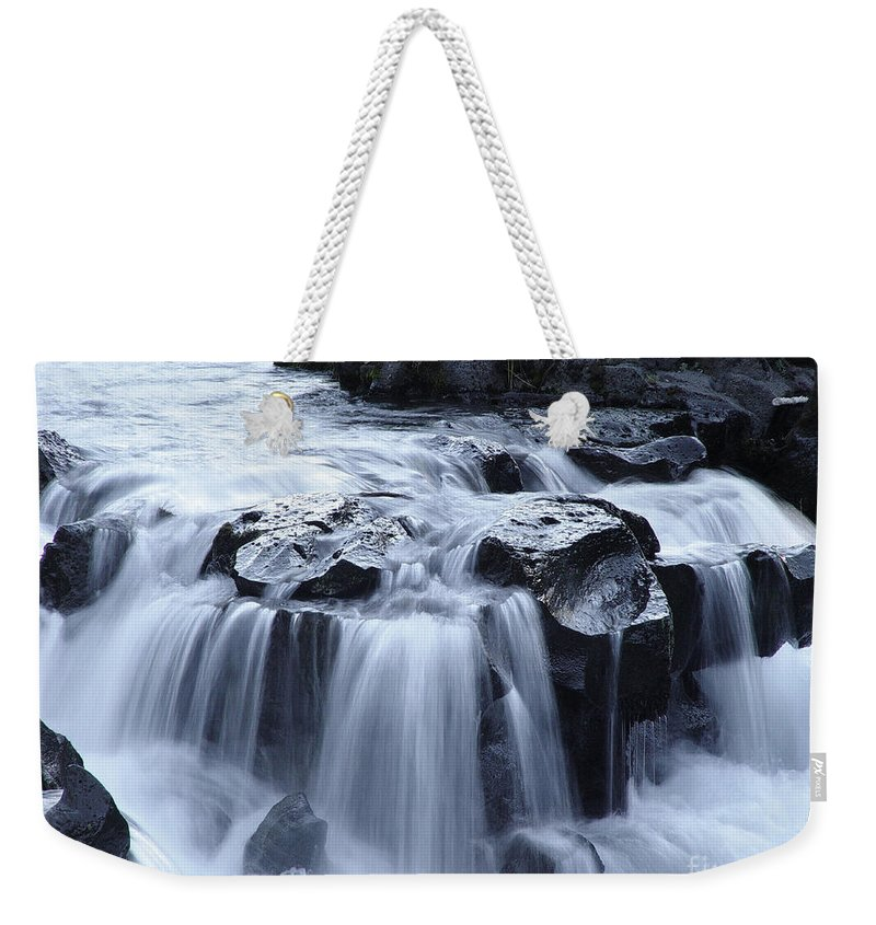 Waterfall Weekender Tote Bag featuring the photograph Natural Bridges Falls 02 by Peter Piatt