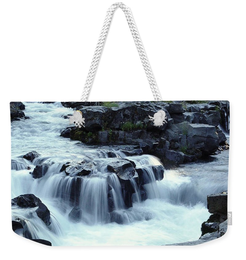 Waterfall Weekender Tote Bag featuring the photograph Natural Bridges Falls 03 by Peter Piatt