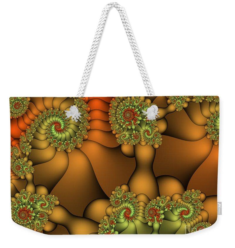 Fractal Weekender Tote Bag featuring the digital art Natural Jewels by Jutta Maria Pusl