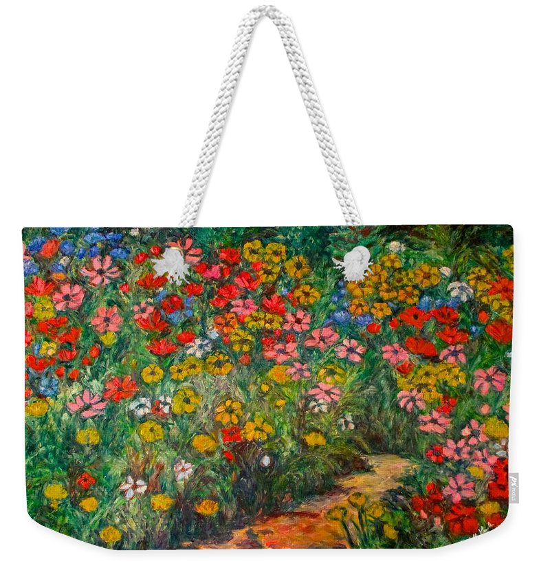 Wildflowers Weekender Tote Bag featuring the painting Natural Rhythm by Kendall Kessler