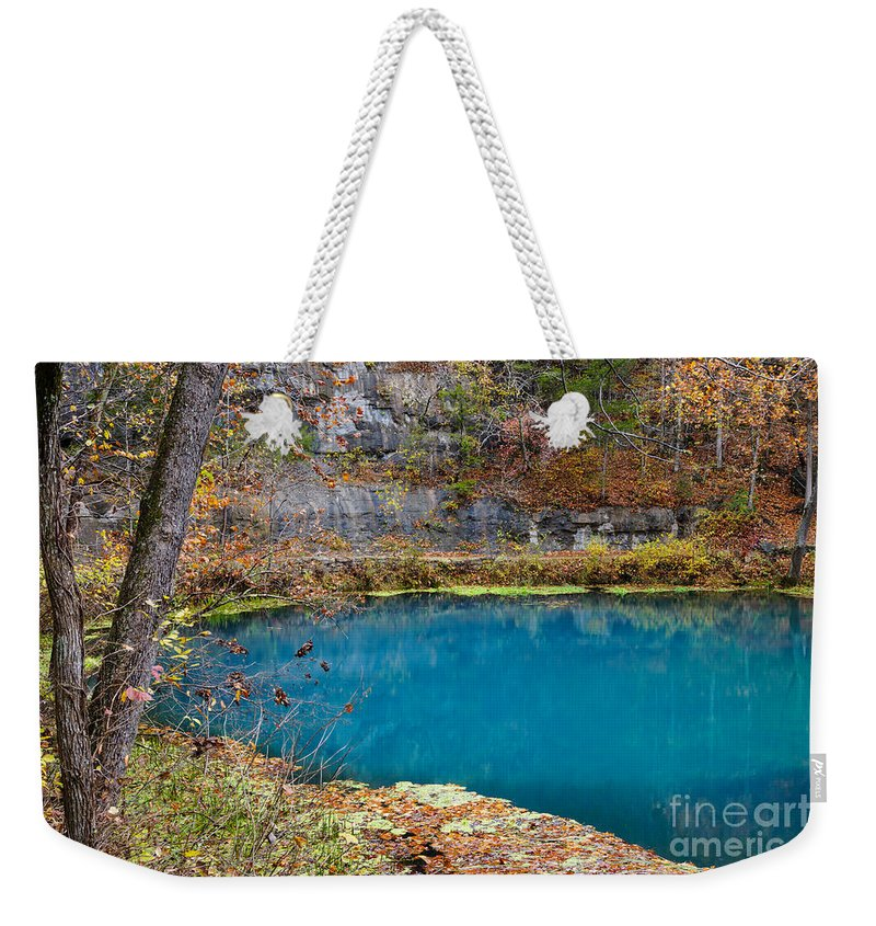 Alley Weekender Tote Bag featuring the photograph Naturally Blue by Jennifer White