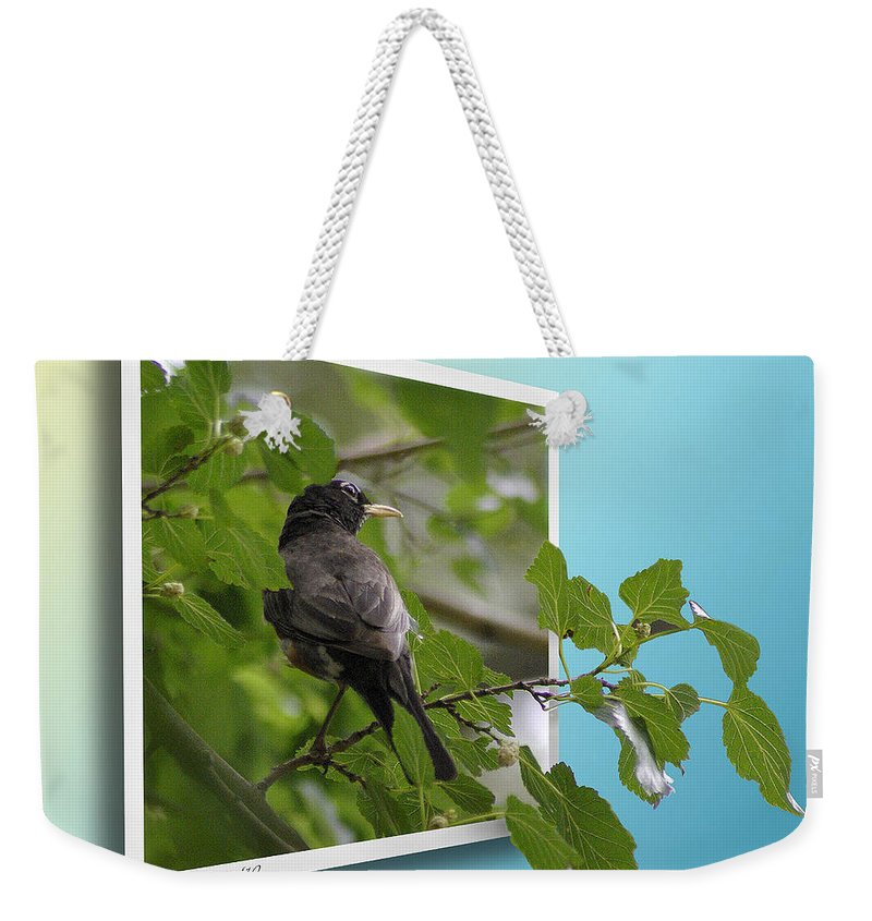 2d Weekender Tote Bag featuring the photograph Nature Bird by Brian Wallace