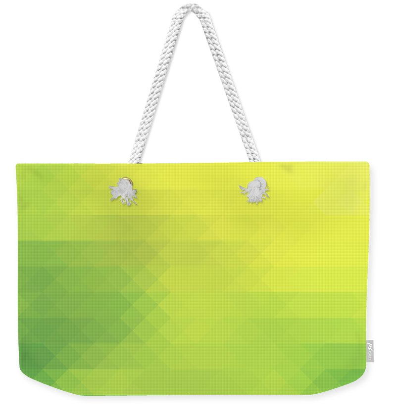 Nature Weekender Tote Bag featuring the photograph Nature Green Theme In Diamonds Pattern by Michal Bednarek