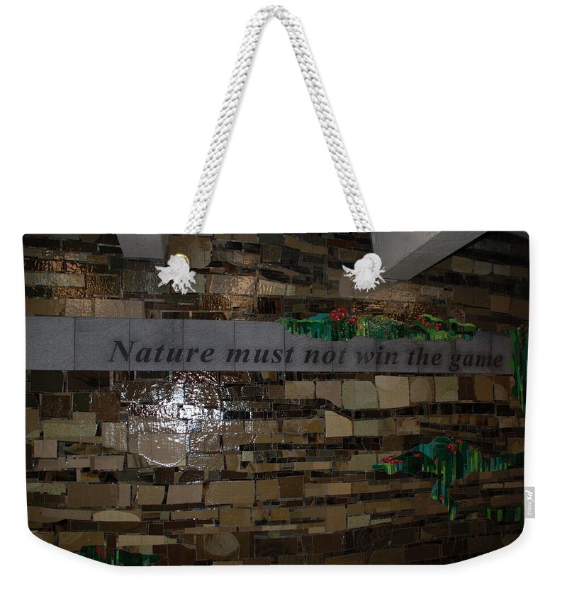 Nature Weekender Tote Bag featuring the photograph Nature Must Not Win The Game by Rob Hans