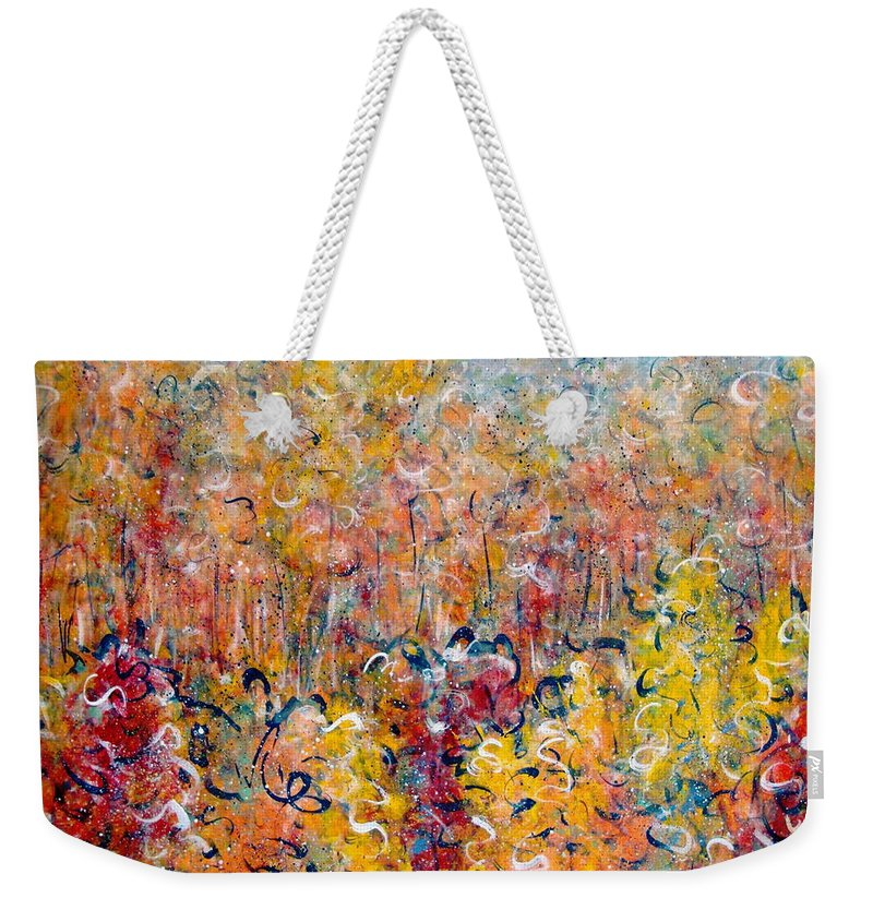 Autumn Weekender Tote Bag featuring the painting Nature by Natalie Holland