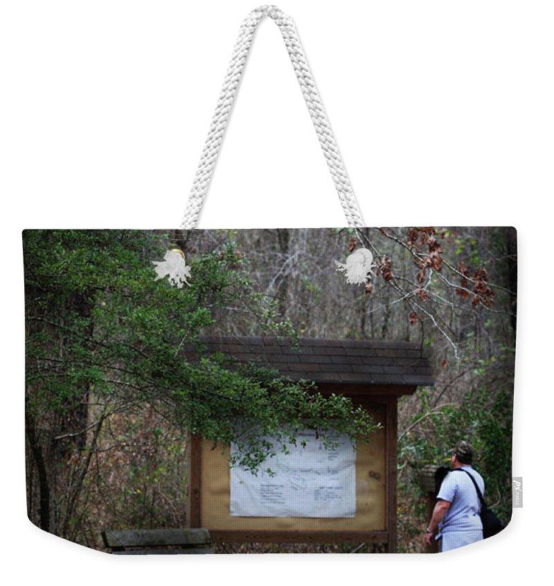 Stephen F. Austin Interpretive Trail Weekender Tote Bag featuring the photograph Nature Walk by Kim Henderson