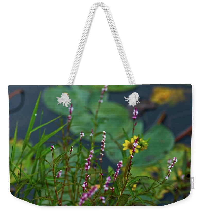lilly Pads Weekender Tote Bag featuring the photograph Nature Water Garden by Paul Mangold