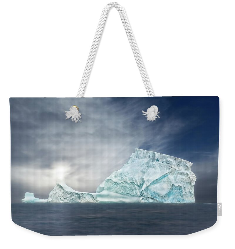 Antarctic Weekender Tote Bag featuring the photograph Nature's Art Work by Maria Coulson