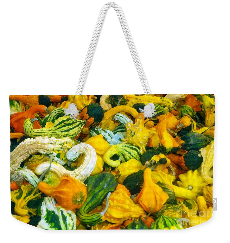 Nature Weekender Tote Bag featuring the painting Natures Bounty by David Lee Thompson