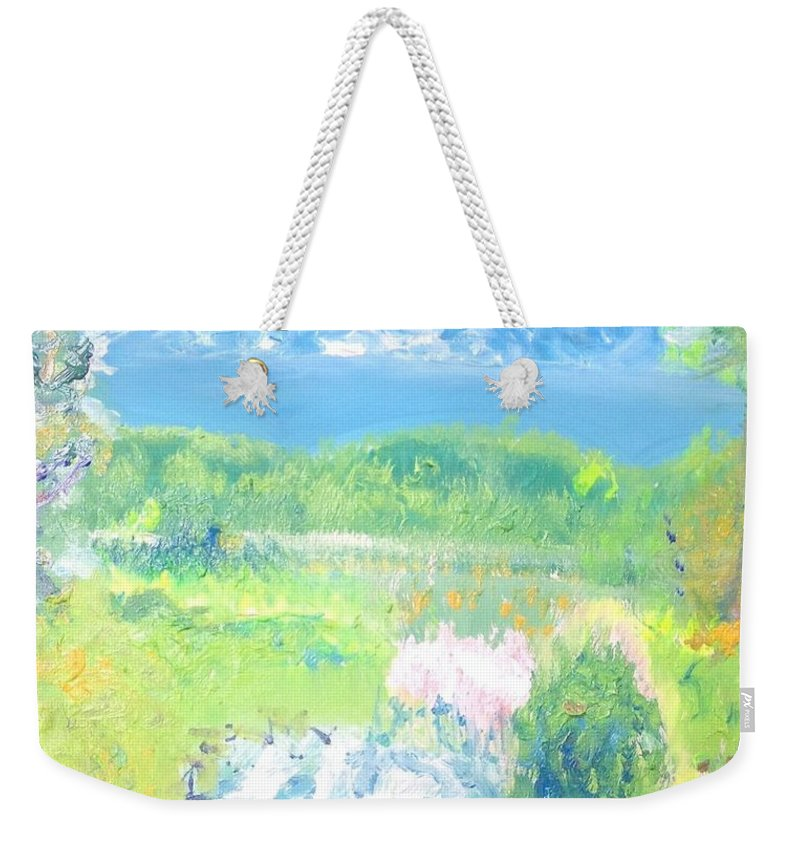 Bounty Weekender Tote Bag featuring the painting Natures Bounty by Judith Desrosiers