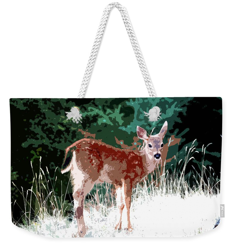 Dear Weekender Tote Bag featuring the painting Natures Child by David Lee Thompson