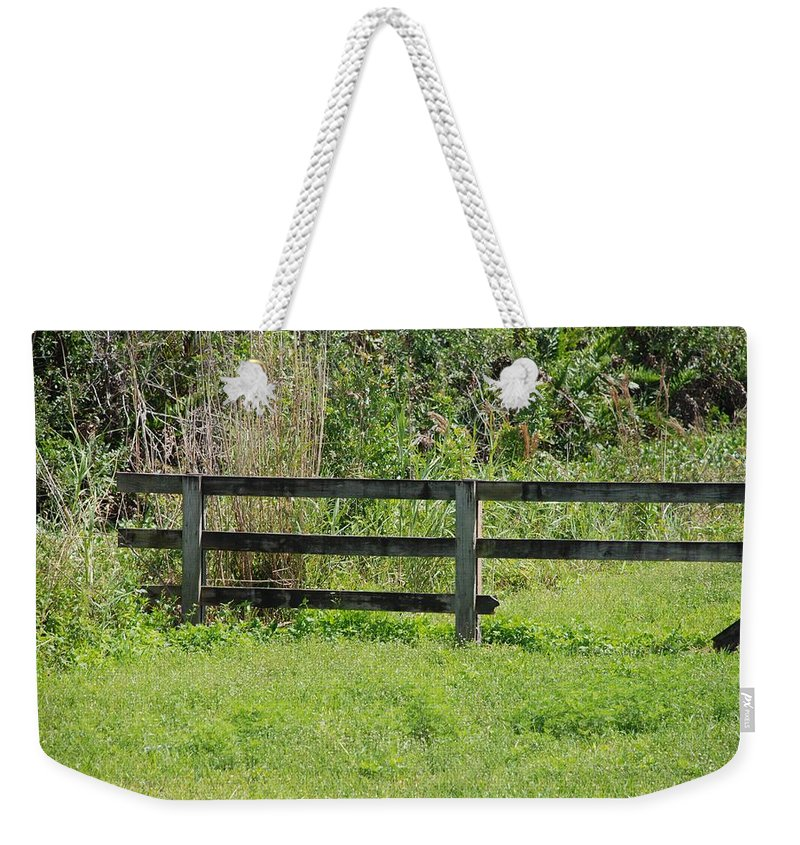 Fence Weekender Tote Bag featuring the photograph Natures Fence by Rob Hans