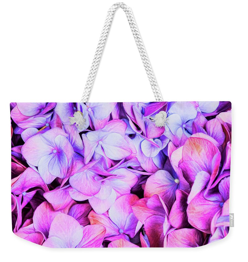 Pink Weekender Tote Bag featuring the photograph Natures Interpretation Of Butterflies by Jessica Manelis