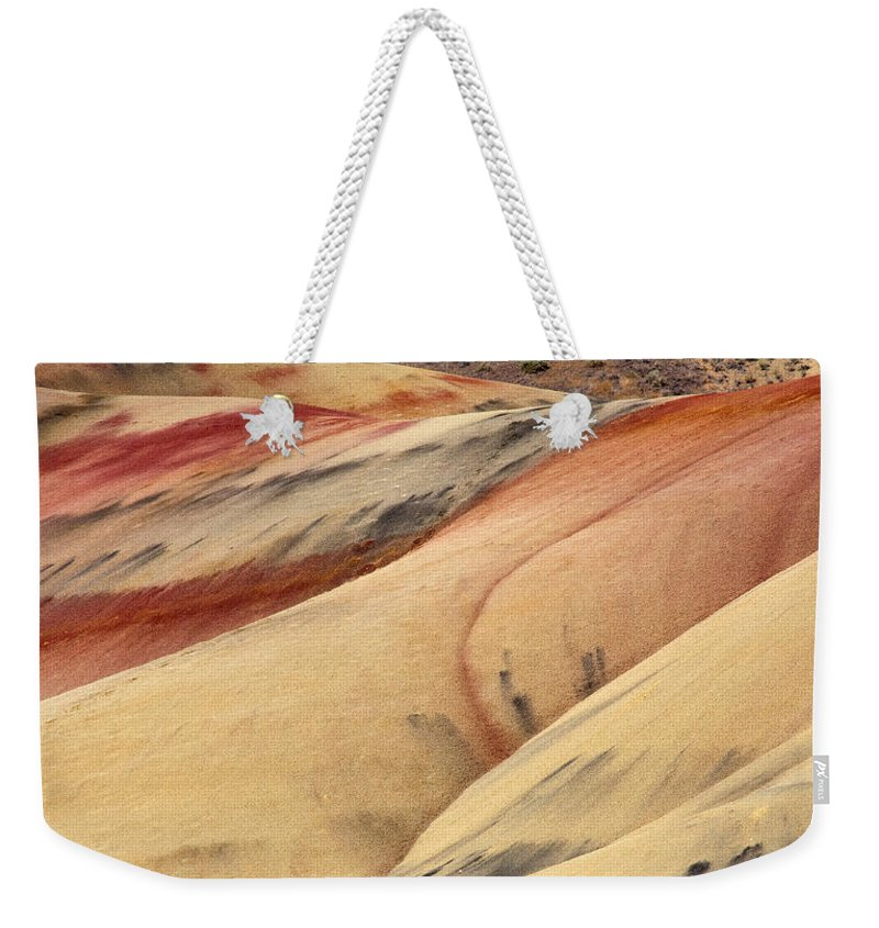 Painted Hills Weekender Tote Bag featuring the photograph Nature's Palette by Mike Dawson