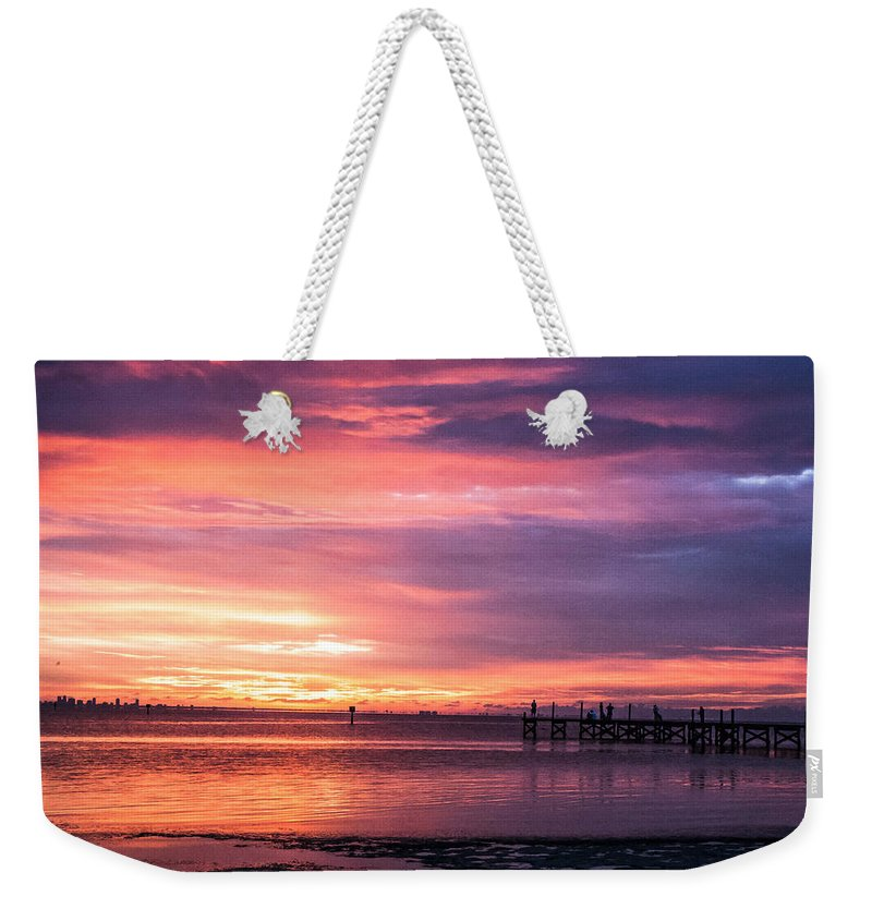 Sunset Weekender Tote Bag featuring the photograph Nature's Palette by Norman Johnson