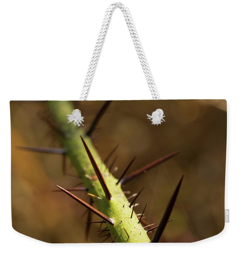 Nature's Torment Weekender Tote Bag featuring the photograph Nature's Torment by Photopoint Art