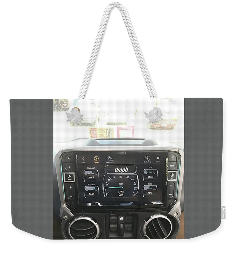 Car Audio Weekender Tote Bag featuring the mixed media Navigation System by Sonic Sound