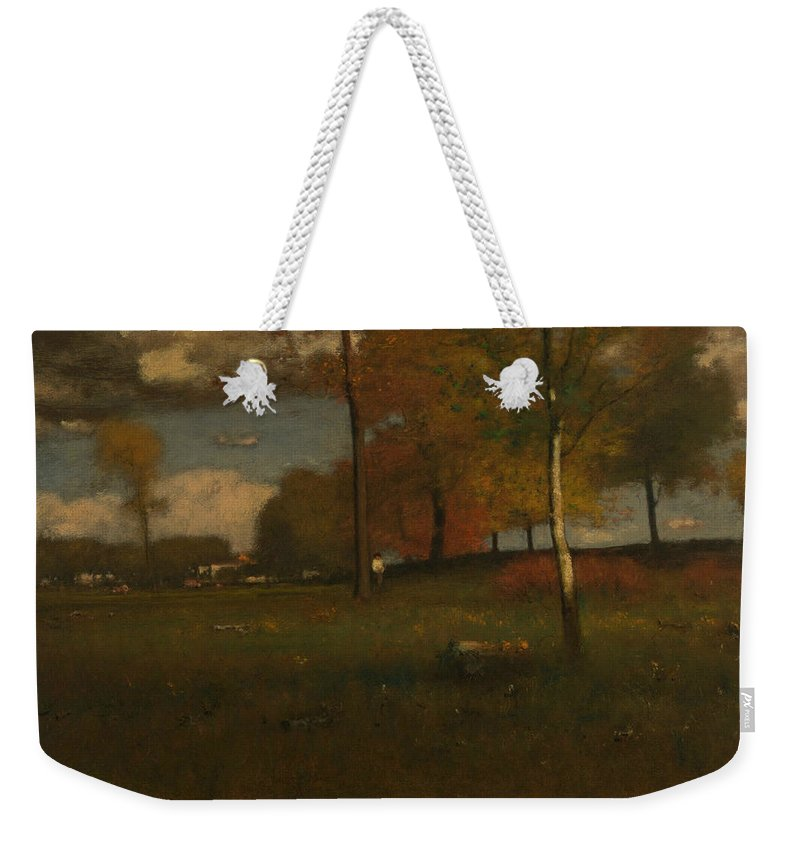 George Inness Weekender Tote Bag featuring the painting Near The Village, October by George Inness