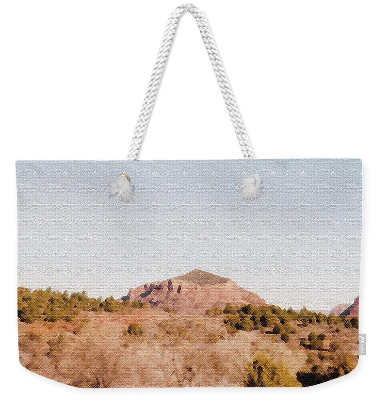 Desert Weekender Tote Bag featuring the photograph Nearly Deserted by Pharris Art