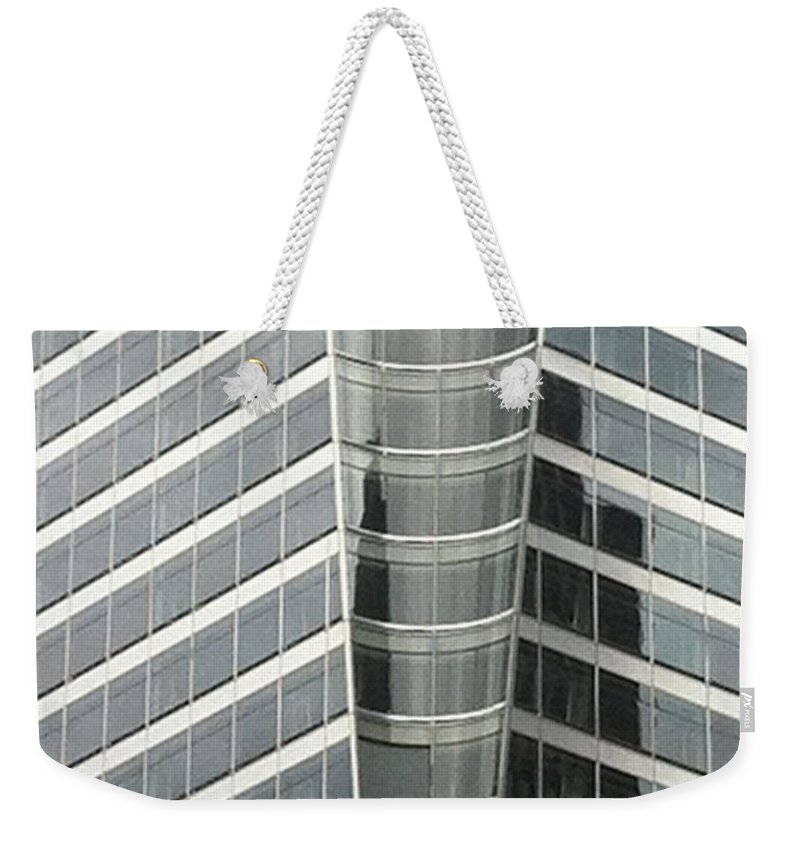 Abstract Weekender Tote Bag featuring the photograph Neat And Clean by Ken Lerner