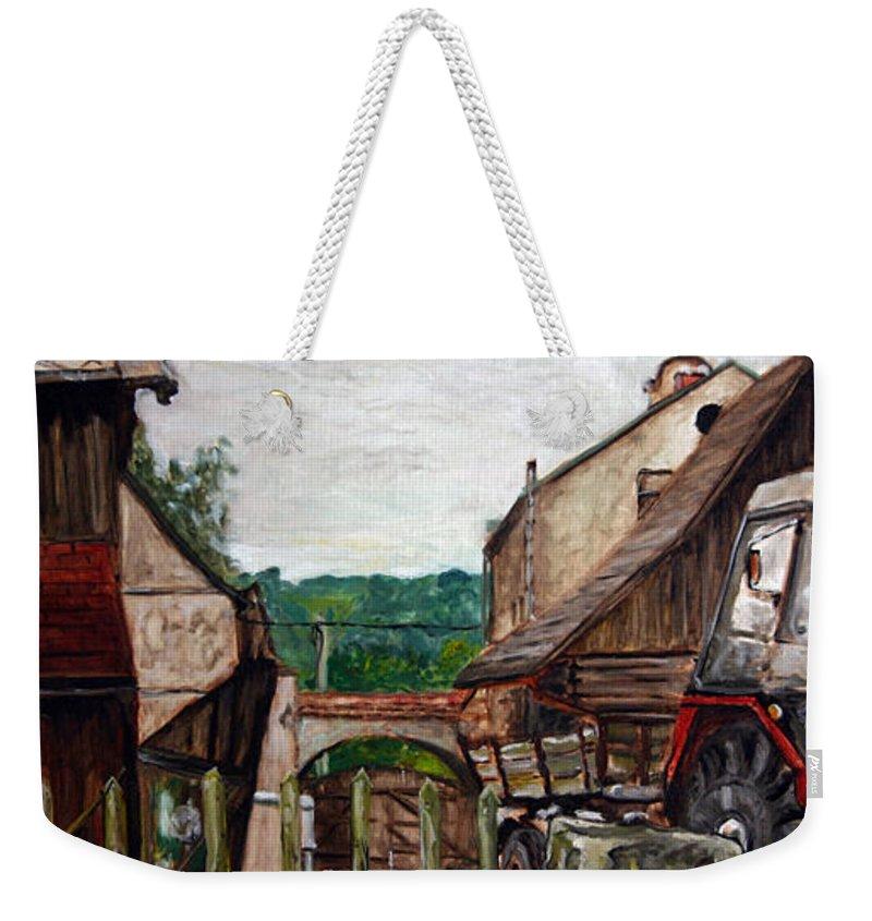 Landscape Weekender Tote Bag featuring the painting Nebocadsky Statek by Pablo de Choros
