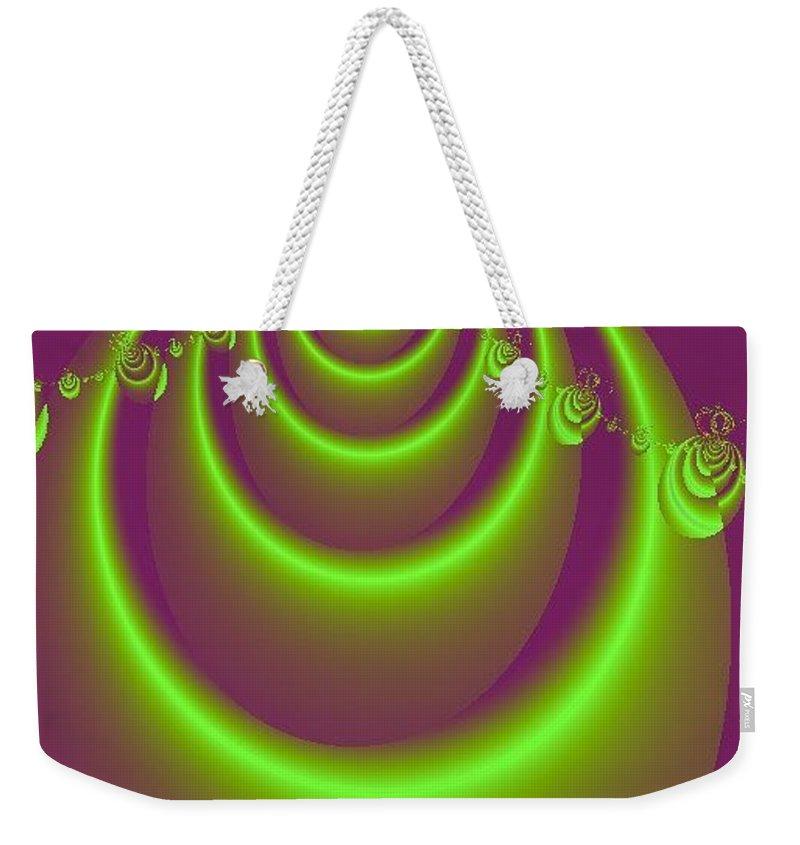 Digital Art Weekender Tote Bag featuring the digital art Necklace by Dragica Micki Fortuna