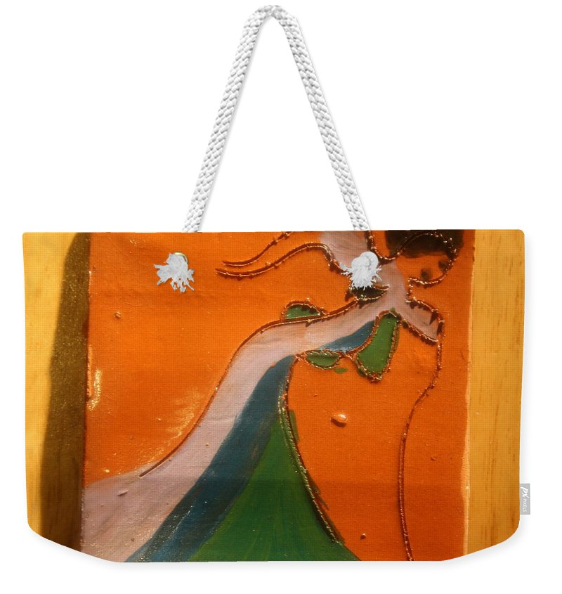 Jesus Weekender Tote Bag featuring the ceramic art Need A Hand - Tile by Gloria Ssali