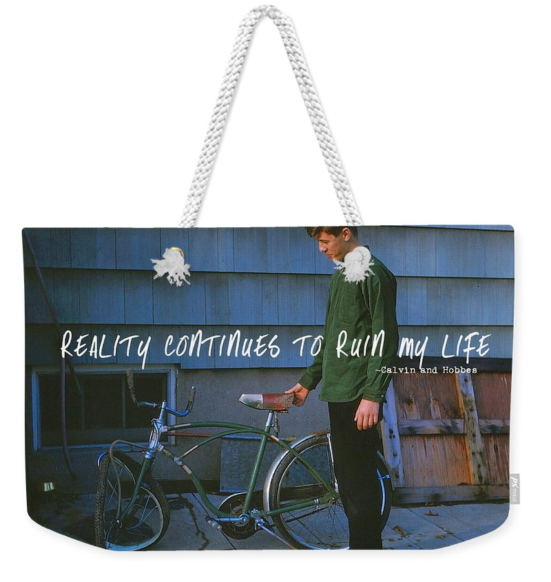 Vintage Weekender Tote Bag featuring the photograph Needing Repair Quote by JAMART Photography