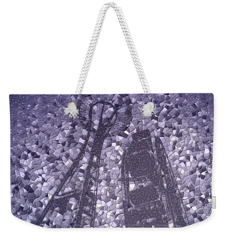 Seattle Weekender Tote Bag featuring the photograph Needle And Ferris Wheel Mosaic by Tim Allen