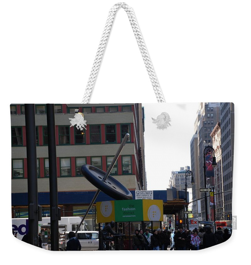 City Scape Weekender Tote Bag featuring the photograph Needle Button by Rob Hans